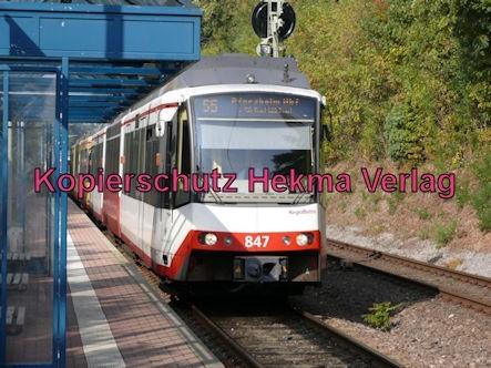 Karlsruhe Straßenbahn - Straßenbahn Wörth - Haltestelle Badallee - S5 Zug 847