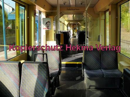 Karlsruhe Straßenbahn - Straßenbahn Wörth - Haltestelle Badepark (Endstation) - S5 Wagen 869 - Innenansicht