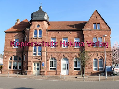 Bad Bergzabern (Pfalz) Eisenbahn - Bahnhof Bad Bergzabern - Bahnhofsgebäude