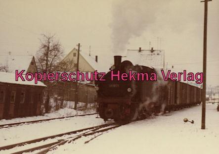 Bottwartalbahn Schmalspur-Eisenbahn - Bahnhof Beilstein - Lok 99 651