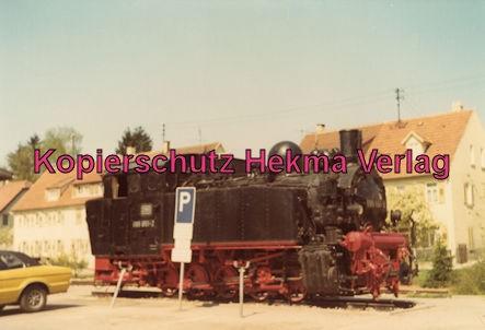 Bottwartalbahn Schmalspur-Eisenbahn - Steinheim - Lok 99 651 (099 651-2) als Denkmal
