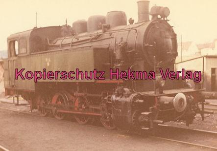 Gammertingen - Hohenzollernsche Landeseisenbahn A.G. - Bahnhof Gammertingen - Lok 16 erbaut 1928 von AEG Berlin