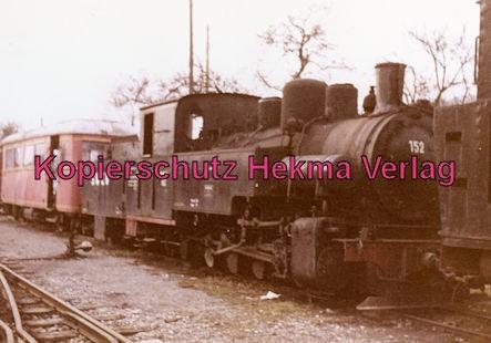 Möckmühlbahn Schmalspur-Eisenbahn - SWEG - Bahnhof Dörzbach - Lok 152