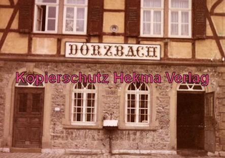Möckmühlbahn Schmalspur-Eisenbahn - SWEG - Bahnhof Dörzbach - Bahnhofsgebäude