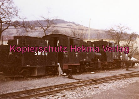 Möckmühlbahn Schmalspur-Eisenbahn - SWEG - Bahnhof Dörzbach - Lok 152 und Tenderlok