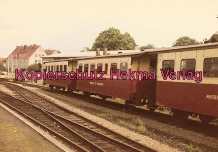 Mindener Kreisbahnen - Bahnhof Minden - Wagen aus der Zeit des Dampfbetriebes