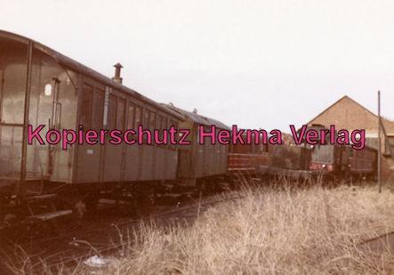 Mosbach Schmalspur-Eisenbahn - Bahnhof Mudau - Wagen und Lok