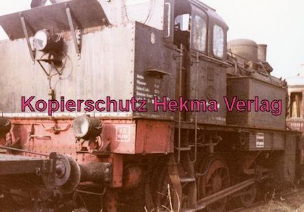 Mosbach Schmalspur-Eisenbahn - Bahnhof Mudau - Ausgemusterte Lok