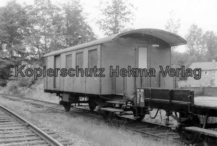 Mosbach Schmalspur-Eisenbahn - Bahnhof Schimborn - Letzter Wagen aus der Dampfzeit