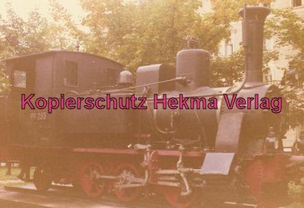 Regensburg Walhallabahn - Vor der Bundesbahndirektion Regensburg aufgestellt - Lok 99 253