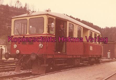 Untergröningen - Württembergische Eisenbahngesellschaft mbH. - Bahnhof Untergröningen - Triebwagen
