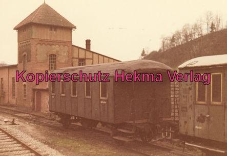 Untergröningen - Württembergische Eisenbahngesellschaft mbH. - Bahnhof Untergröningen - Personenwagen