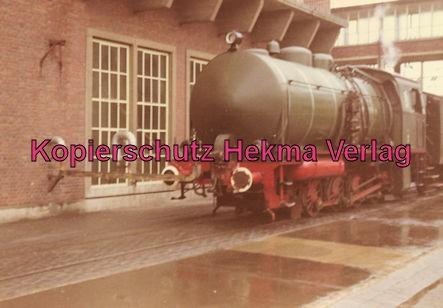 EVS Energieversorgung Schwaben - Marbach - Feuerlose Dampflok - Werkbahn - Die Lok wurde im Werk mit Heißdampf gefüllt - Befüllung