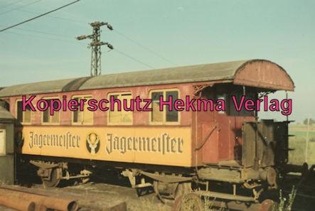 Südwestdeutsche Eisenbahngesellschaft Ettlingen - Strecke Bruchsal-Menzingen - Bahnhof Odenheim - Letzter Personenwagen aus der Dampfzeit