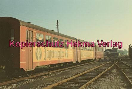 Südwestdeutsche Eisenbahngesellschaft Ettlingen - Strecke Bruchsal-Menzingen - Bahnhof Odenheim - Triebwagen