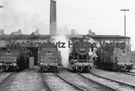 Kaiserslautern Eisenbahn - Bw Kaiserslautern - Lok 053 074-1, 051 689-8, 051 875-3, 050 272-4