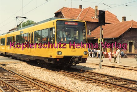 Karlsruhe Straßenbahn - 25 Jahre AVG Jubiläum- Ettlingen Stadt - Probefahrten SSB Stuttgart Wagen 3001 (Prototyp)