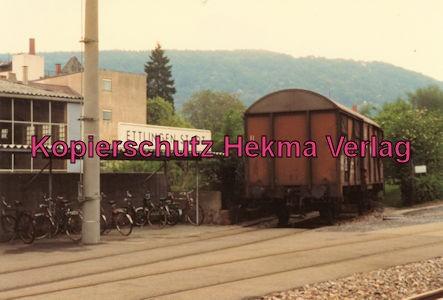 Karlsruhe Straßenbahn - 25 Jahre AVG Jubiläum- Ettlingen Stadt - Depot - AVG Güterwagen