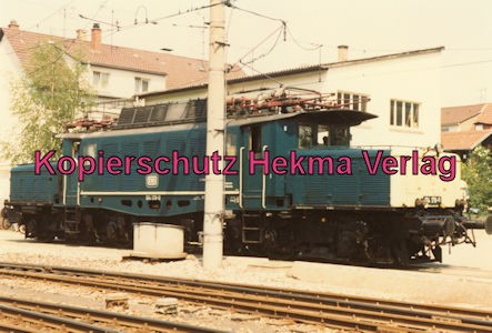 Karlsruhe Straßenbahn - 25 Jahre AVG Jubiläum- Ettlingen Stadt - Depot - DB Lok 194 178-0 Krokodil