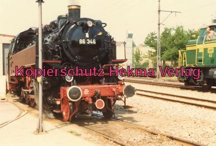 Karlsruhe Straßenbahn - 25 Jahre AVG Jubiläum- Ettlingen Stadt - Dampflok 86 346