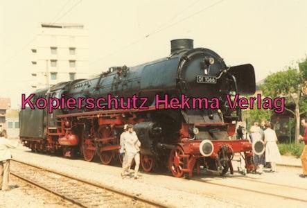 Karlsruhe Straßenbahn - 25 Jahre AVG Jubiläum- Ettlingen Stadt - Dampflok 01 1066