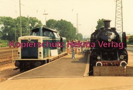 Karlsruhe Eisenbahn - Jubiläum 110 Jahre Eisenbahndirektion Karlsruhe - Karlsruhe Durlach - Lok 211 337-1 Krokodil vom Bw Mannheim