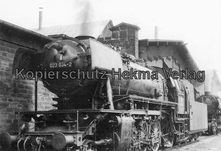 Saarbrücken Eisenbahn - BW Saarbrücken - Lok 023 034-2
