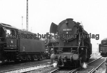 Saarbrücken Eisenbahn - BW Saarbrücken - Lok 052 426-4, 023 100-1