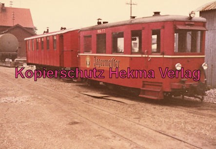 Mittelbadische Eisenbahn A G - Bw. Schwarzach - Triebwagen 7 - Gothaer Waggonfabrik 1936 - Erbauer: Heine und Holländer Elze