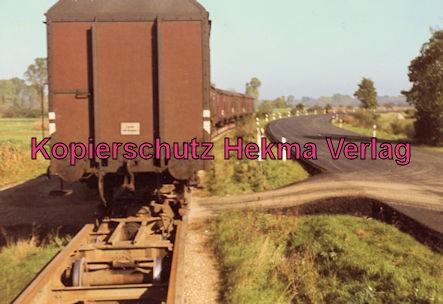 Mittelbadische Eisenbahn A G - Bw. Schwarzach - Vollspurwagen auf einem Rollschemel