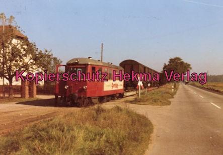 Mittelbadische Eisenbahn A G - Bw. Schwarzach - Triebwagen 7 mit Rollschemel