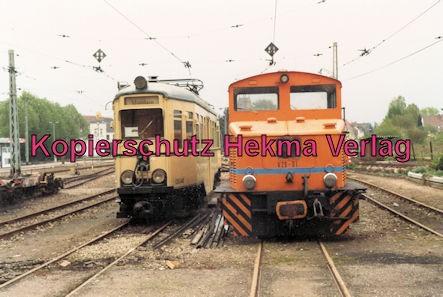 Viernheim Rhein-Neckar DGEG Eisenbahnmuseum - Wagenzug OEG-46 und Diesellok V29-01