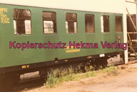 Almetalbahn - Bahnhof Segeste - Wagen der früheren Grube Petit Roselle Merlebach (Lothringen)
