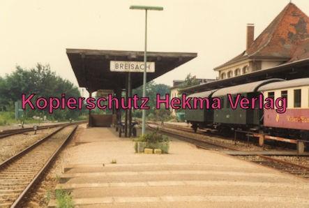 Kaiserstuhlbahn - Rebenbummler - Bahnhof Breisach - Bahnsteig