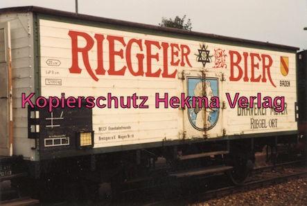 Kaiserstuhlbahn - Rebenbummler - Bahnhof Breisach - Bierwagen