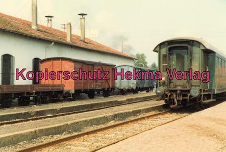Merzig-Büschfelder Eisenbahn - Bahnhof Merzig-Ost - Güter- und Personenwagen