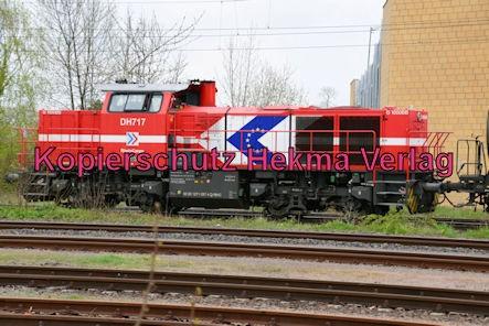 Speyer Eisenbahn - Speyer Hbf Nebengleis - Diesellok DH717 RheinCargo - 92 80 1271 037-4 D-RHC