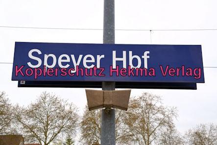Speyer Eisenbahn - Speyer Hbf - Bahnhofsschild