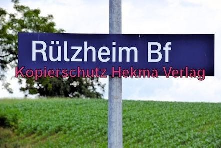 Eisenbahn Rülzheim - Rülzheim - Bahnhof Bahnhofsschild