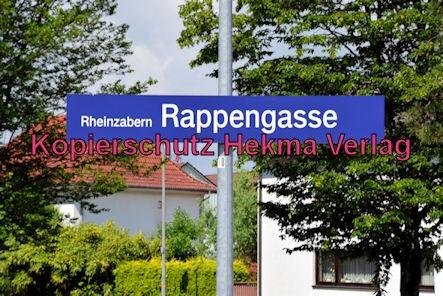 Eisenbahn Rheinzabern - Rheinzabern Bahnhaltepunkt Rappengasse - Bahnhofsschild