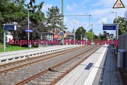 Eisenbahn Rheinzabern - Rheinzabern Bahnhaltepunkt Rappengasse - Bahnsteig