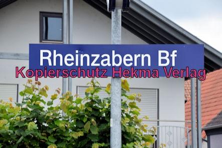 Eisenbahn Rheinzabern - Rheinzabern - Bahnhofsschild