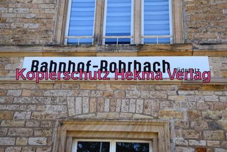 Eisenbahn Rohrbach (Pfalz) - Rohrbach - Bahnhofsschild