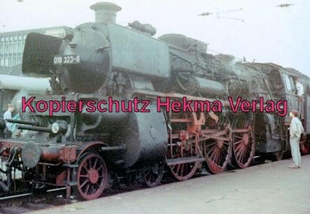 Abschiedsfahrt bad. Lok 018 323-6 - Bahnhof Hildesheim