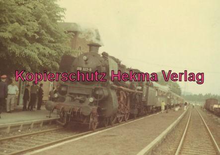 Abschiedsfahrt bad. Lok 018 323-6 - Bahnhof Bornum (Harz)