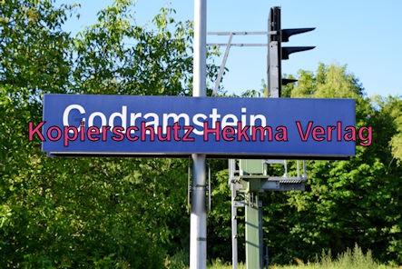 Godramstein/Pfalz Eisenbahn - Bahnhof Godramstein - Bahnhofsschild