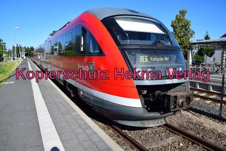 Eisenbahn Kandel (Pfalz) - Kandel Bahnhof - RE6 Bierbach 642 106