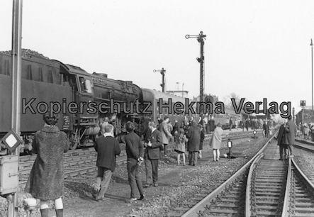 Pacific Abschiedsfahrt - Bahnhof Paderborn - Sonderzug