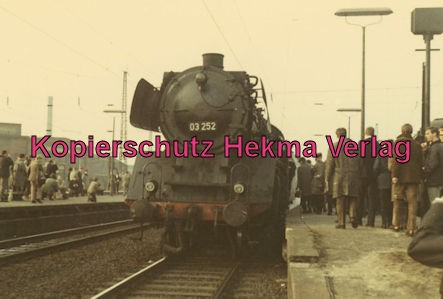Pacific Abschiedsfahrt - Bahnhof Geseke - Lok 03 252