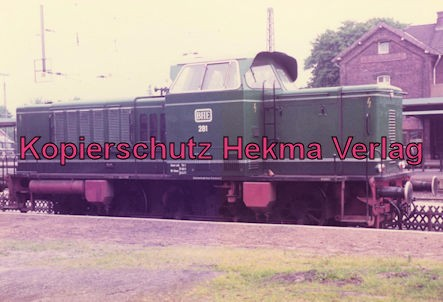 Buxtehude-Harsefeld - Bahnhof Buxtehude-Süd - Diesellok BHE 281